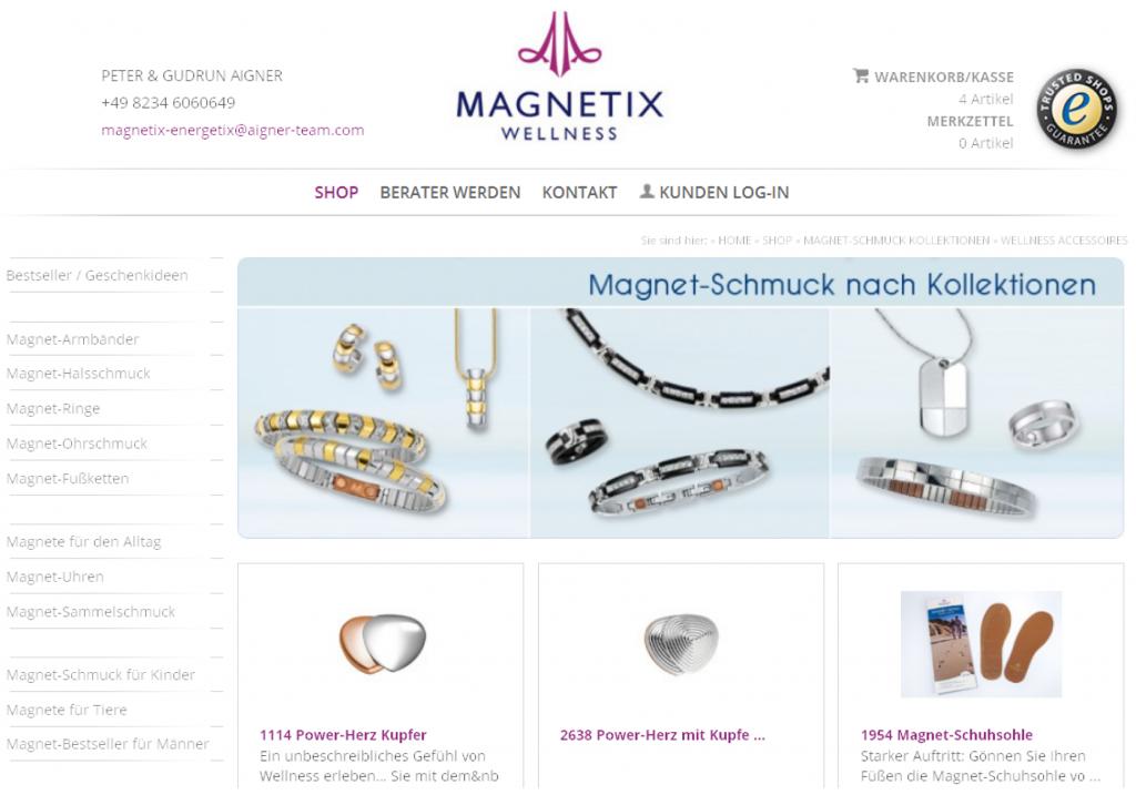 Magnetix-Energetix_Shopbild=Magnetschmuck-Kollektion_aigner-Team